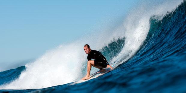 Musiker und Surfer: Dirigent Richard Tognetti am Ningaloo Reef an der Westküste Australiens