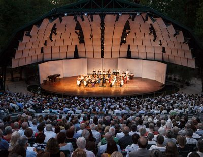 Im Waldesgrün: Das  Festival hat eine  einzigartige Atmosphäre