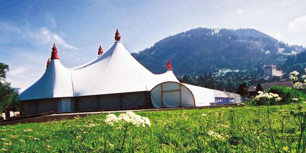 Das Festival-Zelt Gstaad