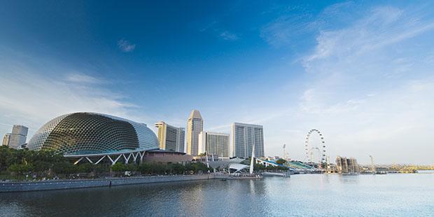 """""""Stinkfrucht"""": Die Esplanade Concert Hall ist der kulinarisch umstrittenen Durian nachempfunden"""