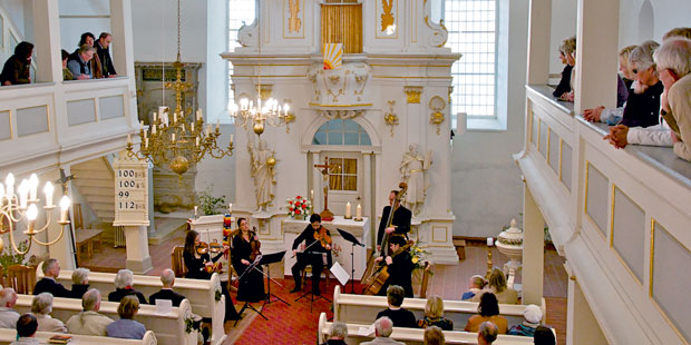 Besondere Aura: In der Dornheimer St. Bartholomäus-Kirche heiratete Bach seine Cousine