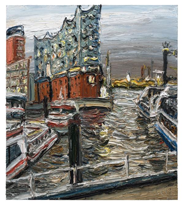 "Gemälde ""Elbphilharmonie am Abend"""