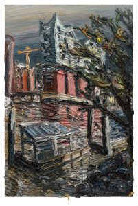 """Gemälde """"Elbphilharmonie nach dem Regen"""""""