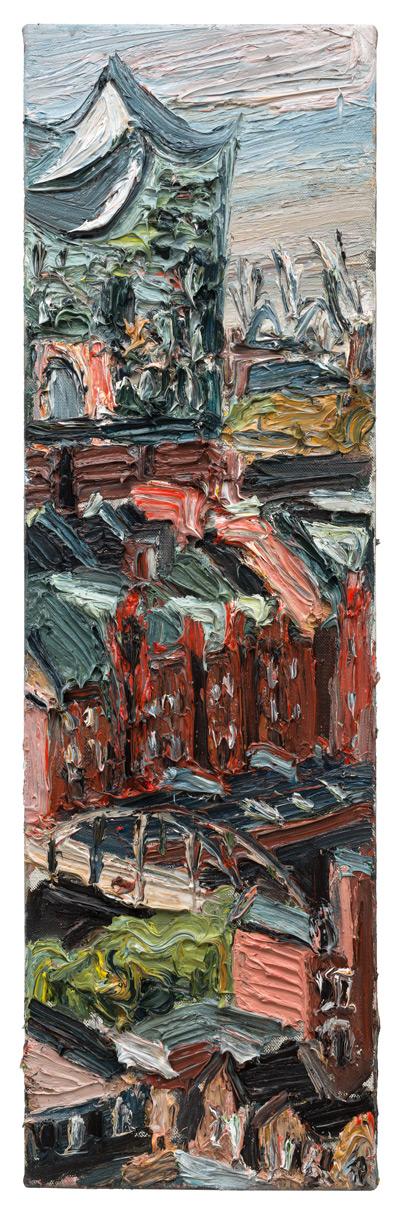 """Gemälde """"Elbphilharmonie und Speicherstadt"""""""