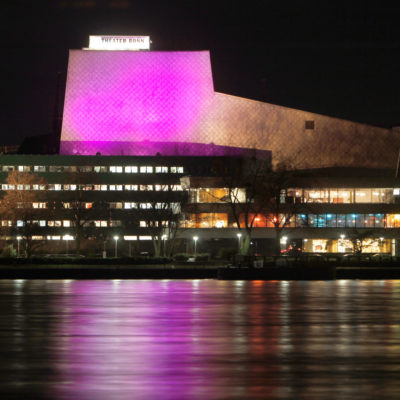 Opernhaus Bonn bei Nacht