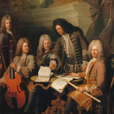 Zusammenkunft von Musikern, Gemälde von André Bouys