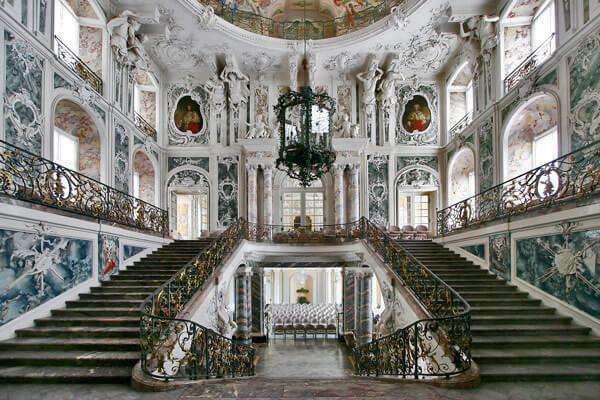 Treppenhaus des Schloss Augustusburg