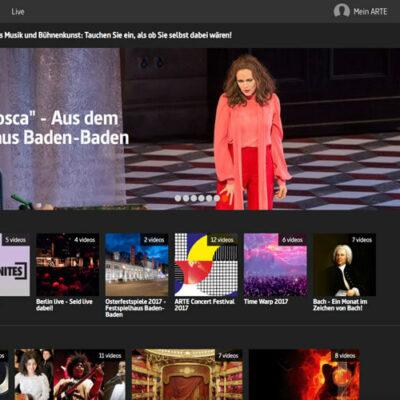 Screenshot ARTE Concert