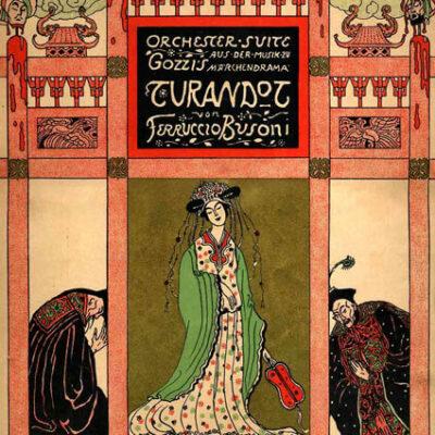 Deckblatt für die Suite aus Turandot