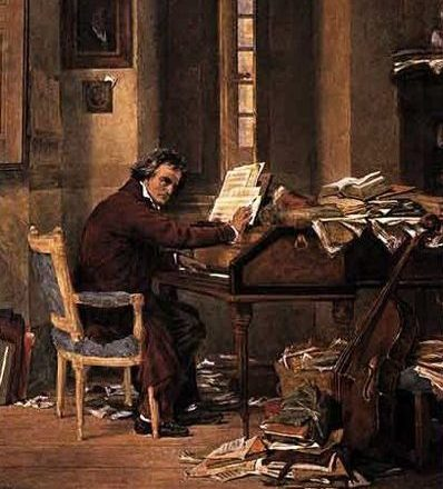 Ludwig van Beethoven, komponierend
