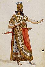 """Kostümentwurf für """"Nabucco"""""""