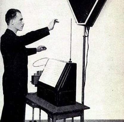 Lew Termen (Leon Theremin) spielt das Theremin