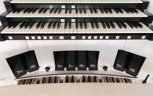 Spieltisch der Orgel in St. Martin, Kassel © Stefan Korte/Galerie Neu, Berlin