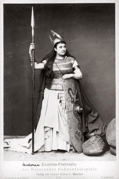 Amalie Materna als Brünnhilde, Bayreuth 1876