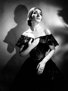 Maria Callas in der Rolle der Violetta