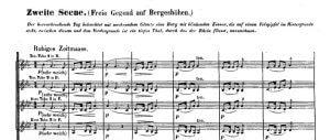 Das Rheingold, Akt 2: Ausschnitt aus der Partitur (Wagnertuben)