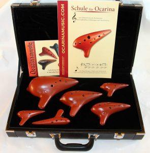 6er Set Konzertokarinas mit Koffer der Firma Ocarina Musikhaus