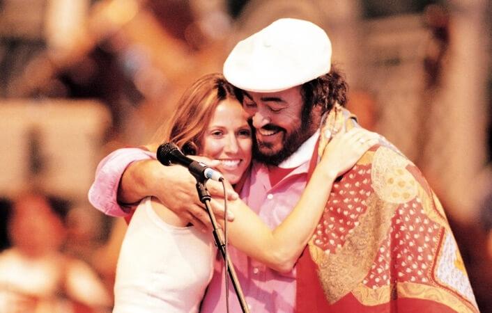 Luciano Pavarotti und Sheryl Crow