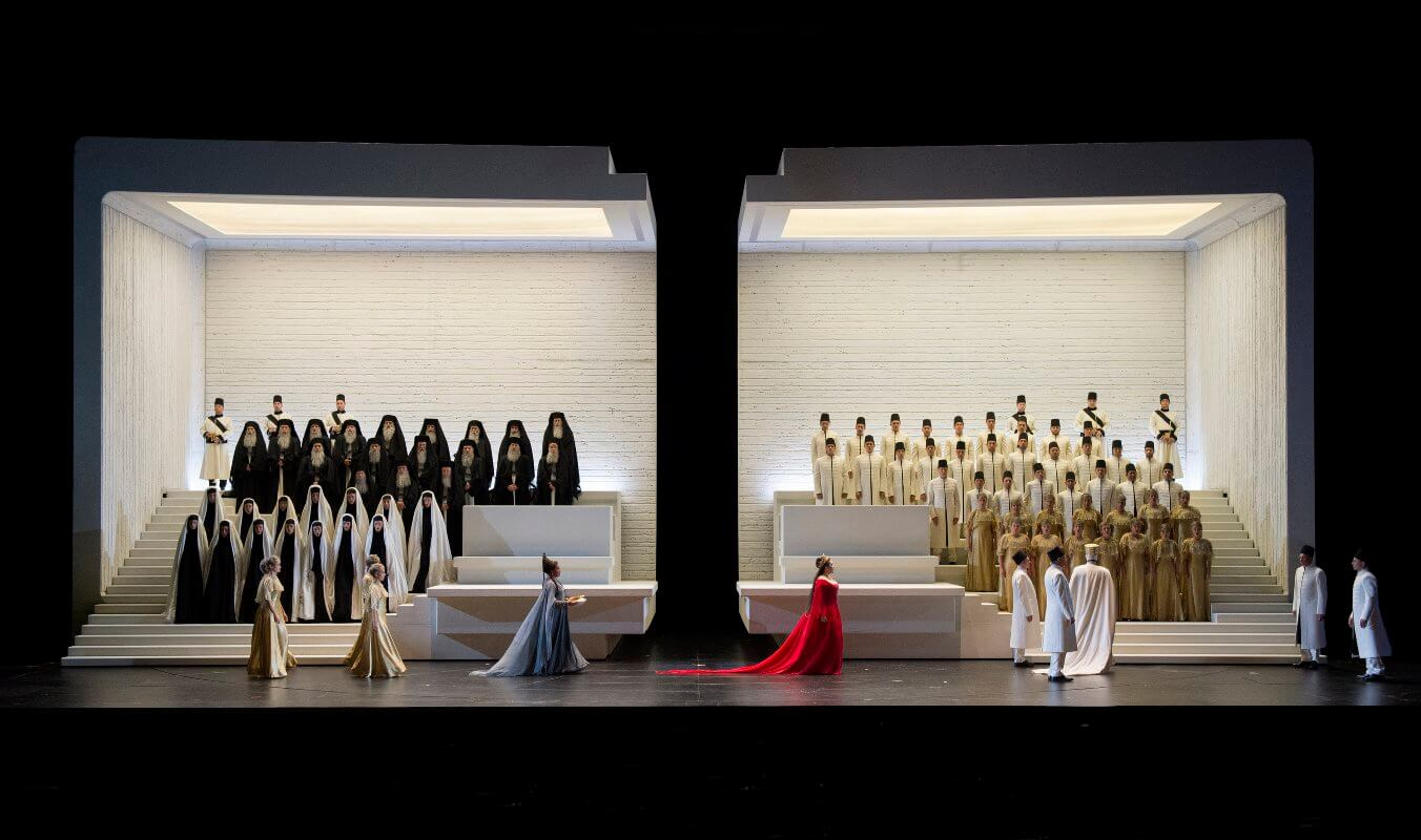 """Szenenbild aus """"Aida"""" von den Salzburger Festspielen 2017"""