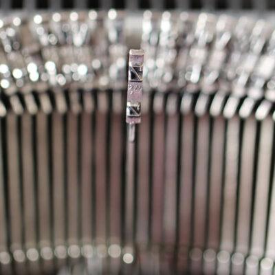 Schreibmaschine, Detail