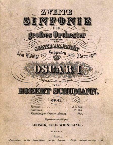 Robert Schumann: Sinfonie Nr. 2, Deckblatt der Erstausgabe