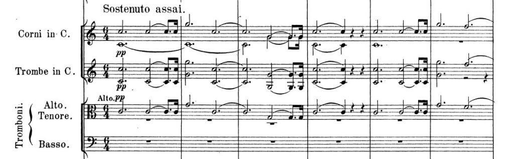 Robert Schumann: Sinfonie Nr. 2, 1. Satz, Hauptthema