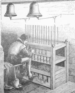 Stich eines Carilloneurs, um 1890