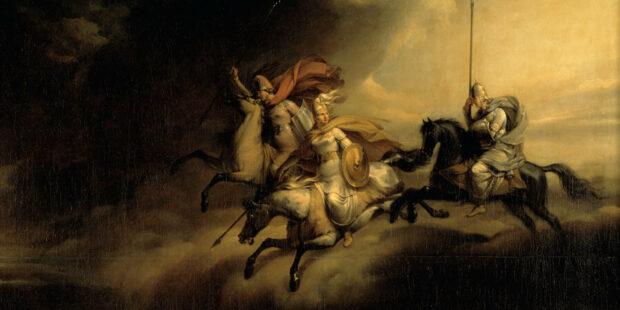 Der Walkürenritt. Gemälde (Ausschnitt) von Johan Gustaf Sandberg