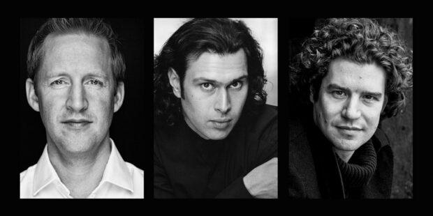 v.l.n.r.: Justin Doyle, Vladimir Jurowski und Robin Ticciati