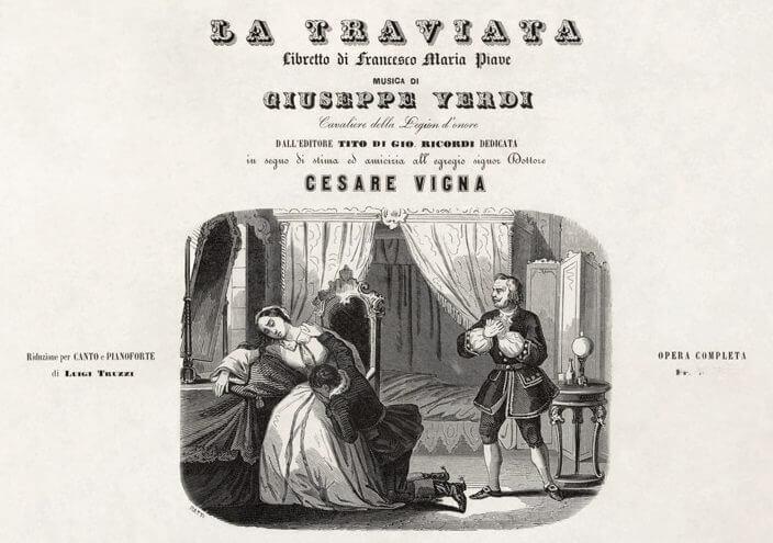 La Traviata, Titelblatt des Klavierauszugs
