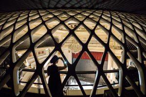 Staatsoper Berlin, Blick von der Nachhallgalerie in den Zuschauerraum und die Bühne