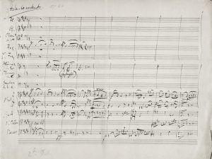 """Johannes Brahms, Sinfonie Nr. 1, 1. Satz """"Andante sonstenuto"""", Autograf"""