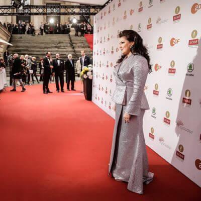 ECHo Klassik 2016, Anna Netrebko auf den Roten Teppich