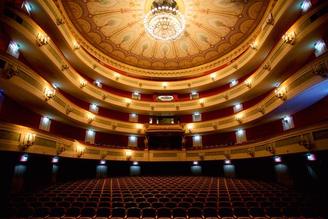 Der Zuschauerraum des Gärtnerplatztheaters