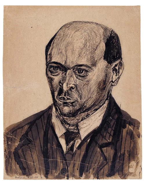 Arnold Schönberg, Selbstportrait 1908