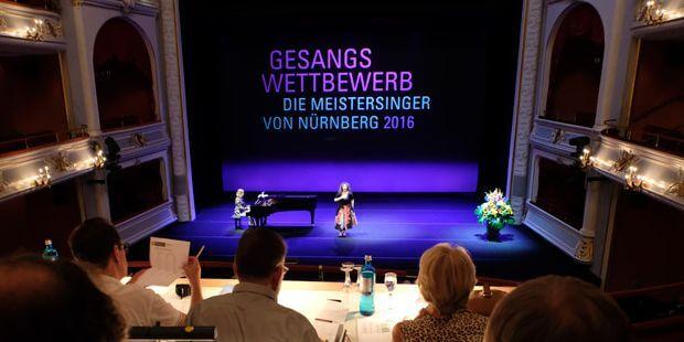 """Gewangswettbewerb """"Die Meistersinger von Nürnberg"""", Auftritt vor der Jury"""