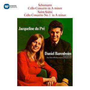CD-Cover: Jacqueline du Pré und Daniel Barenboim mit Schumann und Saint-Saëns