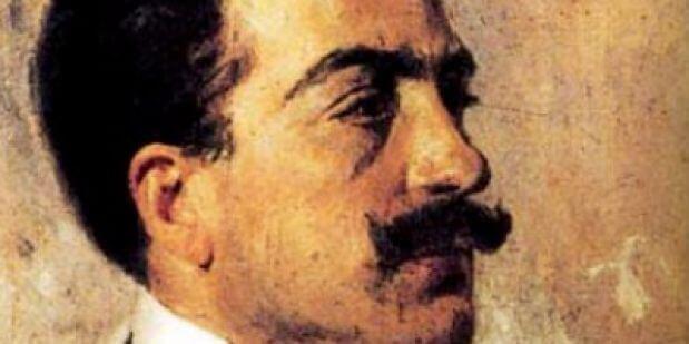 Umberto Giordano. Gemälde von Gaetano Esposito