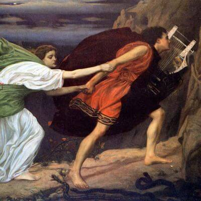 Orpheus und Eurydice. Gemälde von Edward Poynter