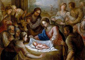 Symbolbild Weihnachten. Gemälde von Antonio Can den Pere