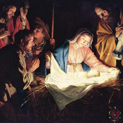 Symbolbild Weihnachten. Gemälde von Gerard Van Honthorst