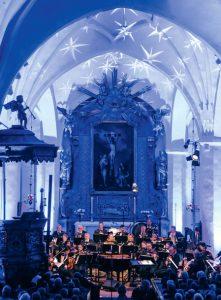 Vinterfest. Konzert der Dalasinfoniettan in der Kirche von Mora
