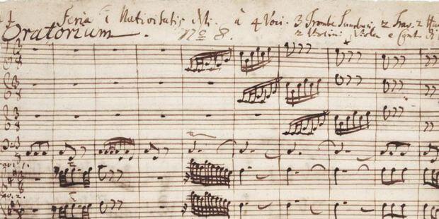 """Beginn des Weihnachtsoratoriums von J. S. Bach (""""Jauchzet, frohlocket""""), Autograph"""