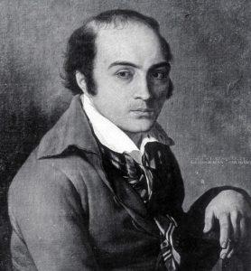 André Chénier. Gemälde von Joseph-Benoît Suvée