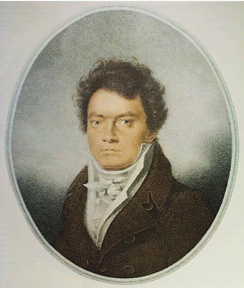 Ludwig van Beethoven, 1814. Stich von Louis René Letronne
