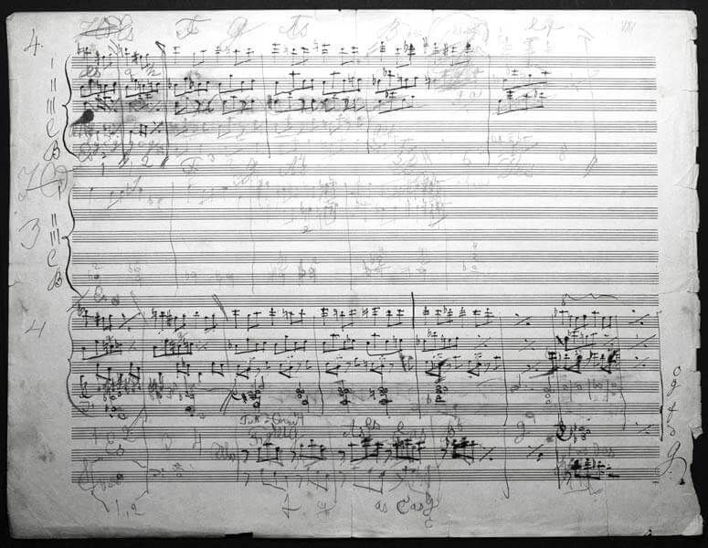 Anton Bruckner, handschriftlicher Entwurf der Sinfonie Nr. 8
