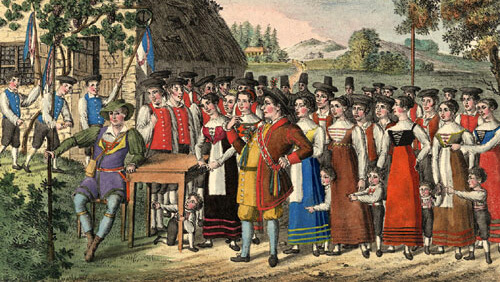 Der Freischütz. Lithografie um 1822