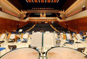 Orchesterpodium der Duisburger Philharmoniker in der Mercatorhalle