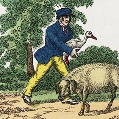 Hans im Glück. Stich aus den 1840er-Jahren