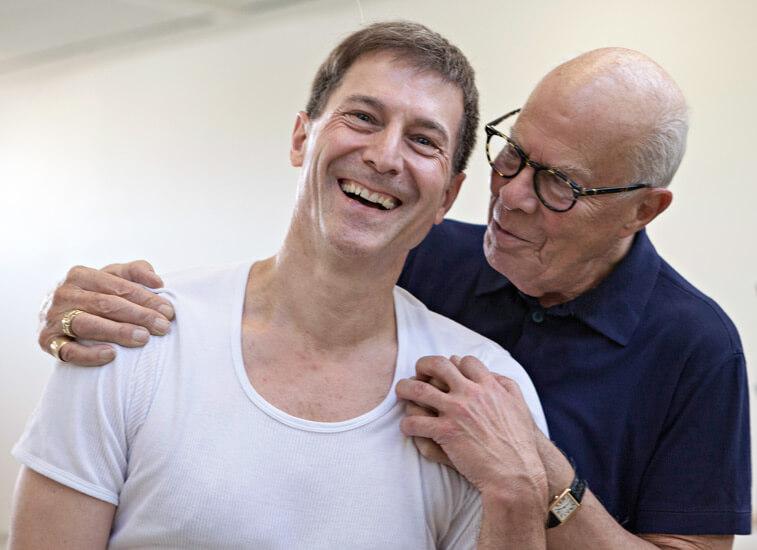Martin Schläpfer (l.) und Hans van Manen (r.), Choreografen der Deutschen Oper am Rhein